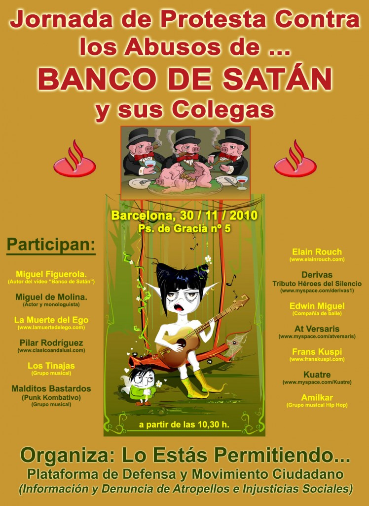 Barcelona, 30 de Noviembre. Jornada contra los abusos de la Banca